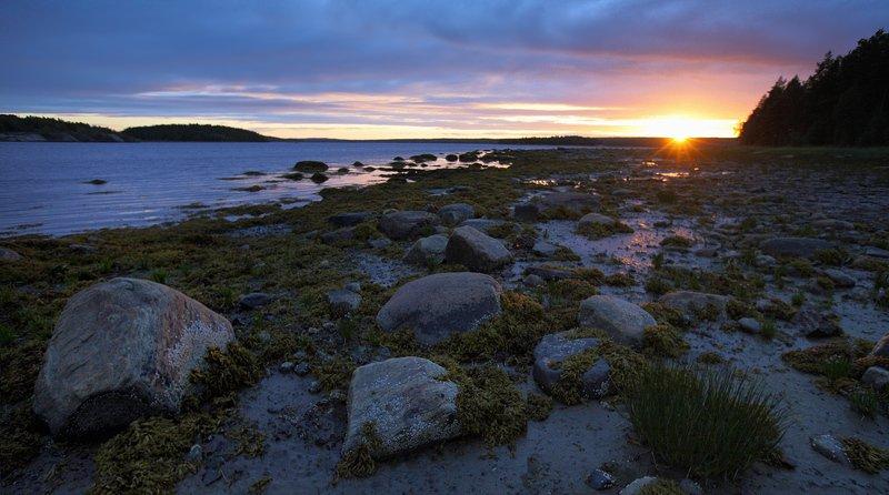 кольский, закат, вода, белые ночи Белое море, закатphoto preview
