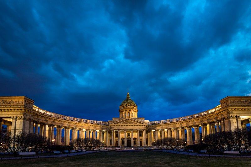 казанский, собор, санкт-петербург, питер, архитектура, ночь, пейзаж Казанский собор ночью.photo preview
