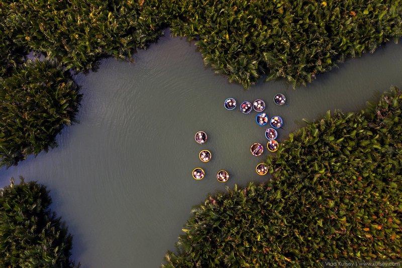 вьетнам, лодки, лодка_тазик,  Тазики-лодки «тхунг чай»photo preview