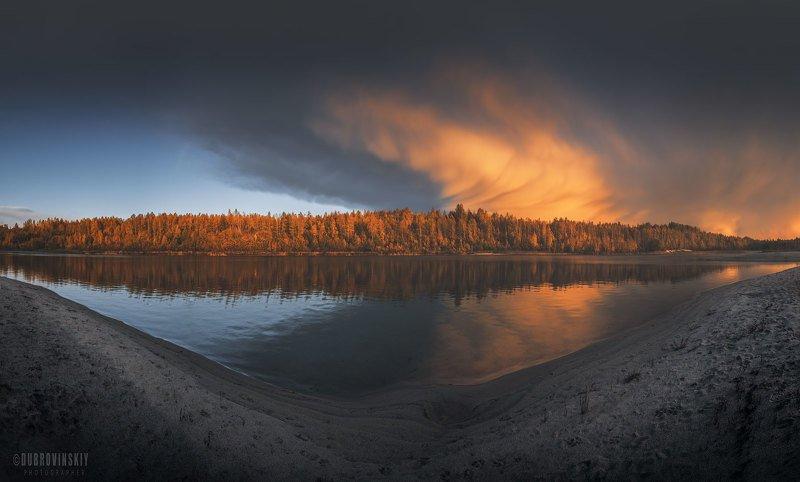 гроза, туча, озеро, закат Тучаphoto preview