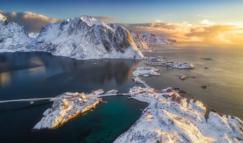 lofoten islands, norway, hamnoya, лофотены, норвегия, sakrisøy Утро на Лофотенахphoto preview