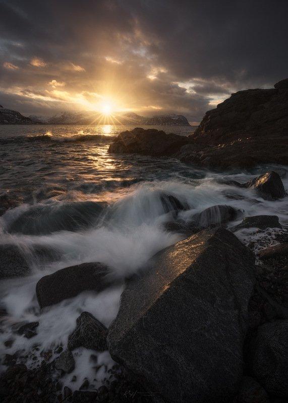 "#landscape #seascape #norway #sunset #longexposure #fineart ""Vareid on Fire""photo preview"