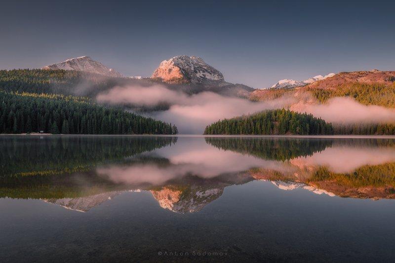 дурмитор, черногория, горы, озеро, отражение, рассвет Durmitor, Montenegrophoto preview