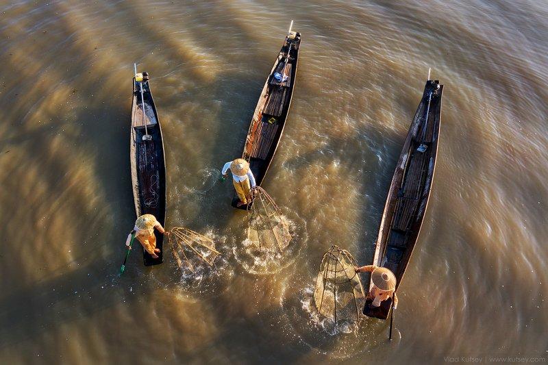 мьянма, бирма, инле, интха, рыбаки, озеро, лодки Дети озераphoto preview