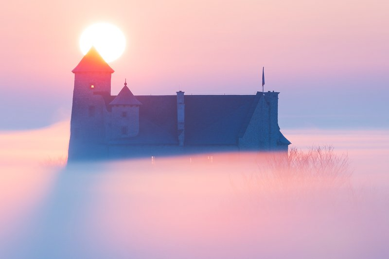 bobolice, polska, poland, landscape, 500px, rydzewski, canon, fall, sunrise,sunset, jurassic, silesia, śląsk, foggy, fog, Castle in Bobolicephoto preview