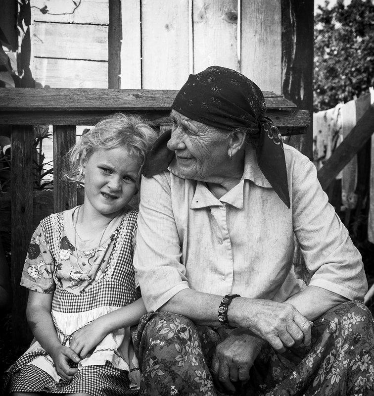 портрет,старость,юность,время,бабушка,внучка Связь времен!photo preview