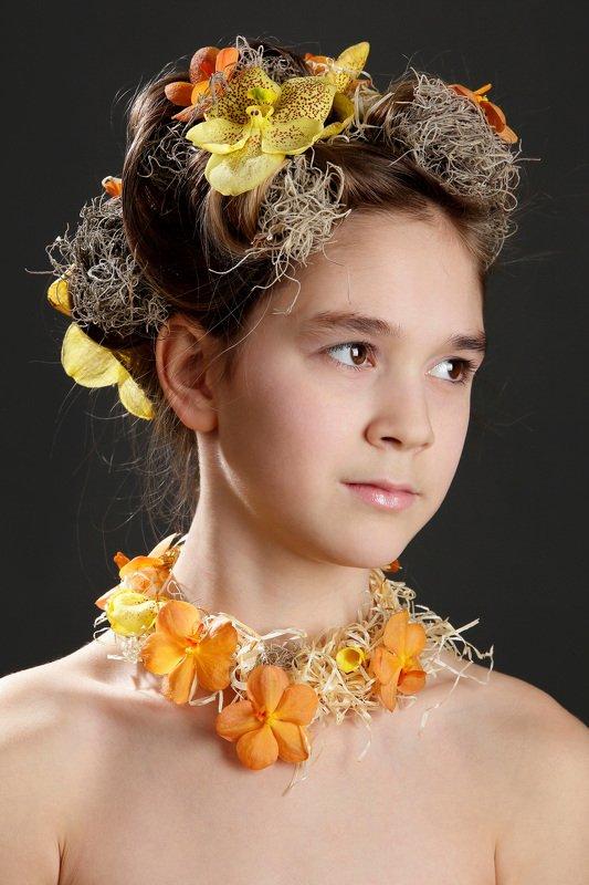 флористика, портрет, цветы, люди образы эпохи Причёскаphoto preview