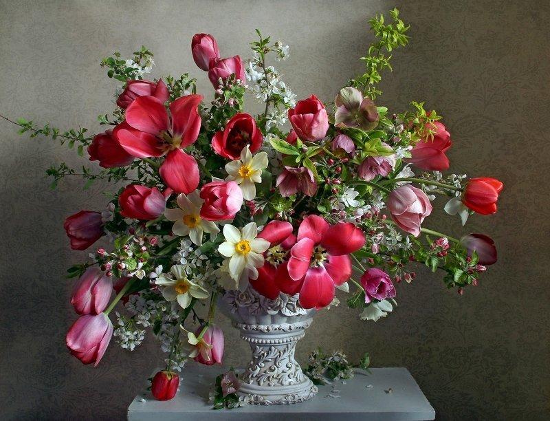 весна, натюрморт, букет цветов, тюльпаны, марина филатова Дивный подарок весныphoto preview