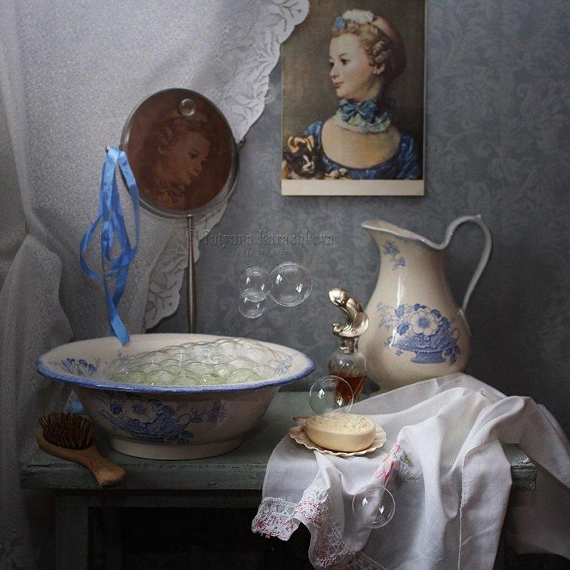 натюрморт, кувшин, мыльные пузыри Утреннийphoto preview