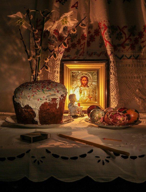 натюрморт,Пасха,кулич,крашенки, Христос Воскресе!!!photo preview