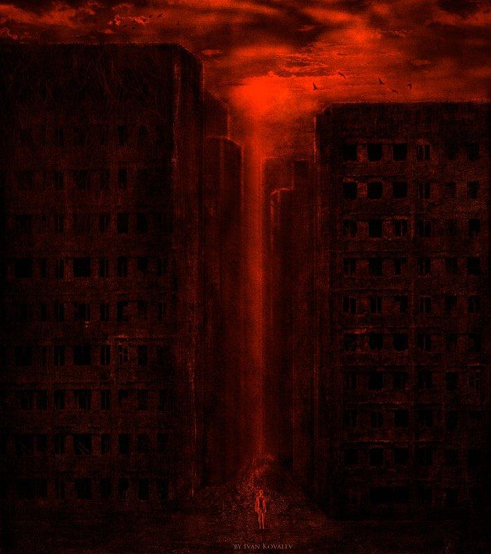 изоляция, пандемия, covid19, обнуление, перерождение, кровь, человек, графика, wallart Rebirthphoto preview