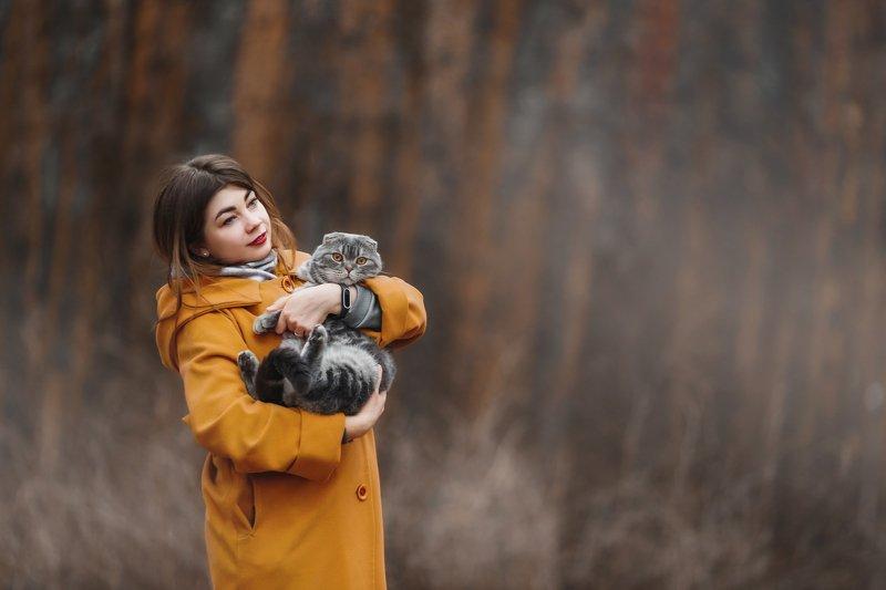 прогулка кот Галя и Мортиphoto preview