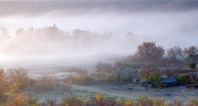 осень, рассвет, туман утренние зарисовки - 3photo preview