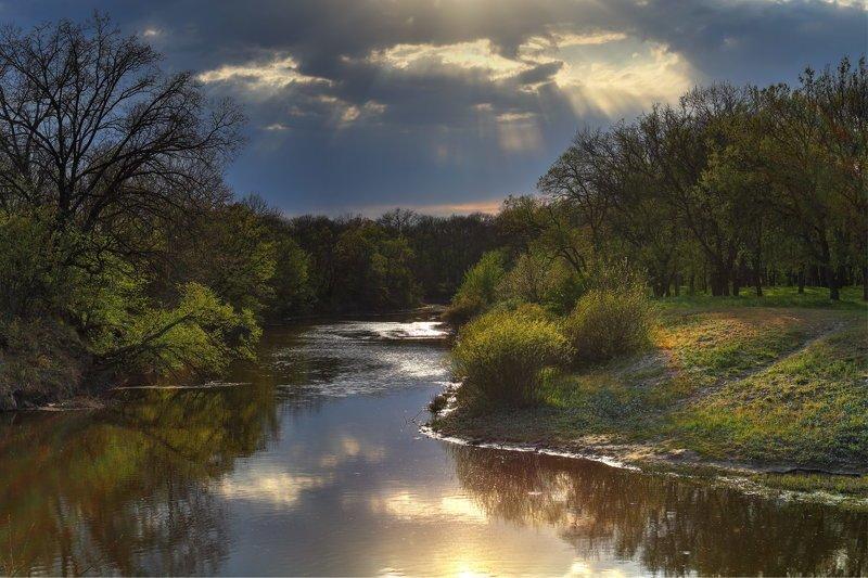 река, самара, лес, самарский, небо, вечер, закат Контрастный вечерphoto preview
