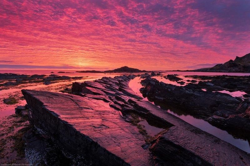 рассвет, заполярье, утро, кольский полуостров, север, осень Осенний рассветphoto preview