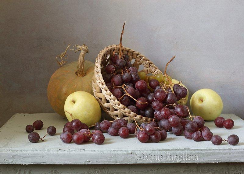 натюрморт, виноград, кувшин, груши Еще раз про красный виноградphoto preview