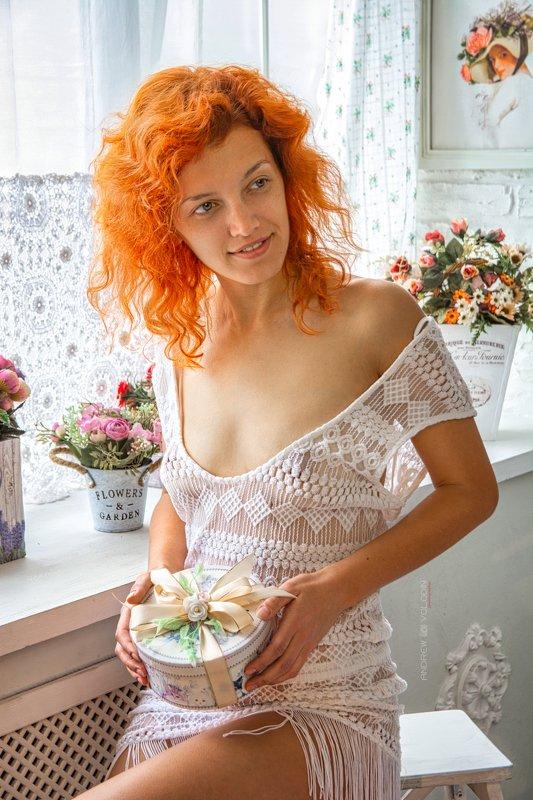 девушка портрет солнышко прованс Солнышкоphoto preview