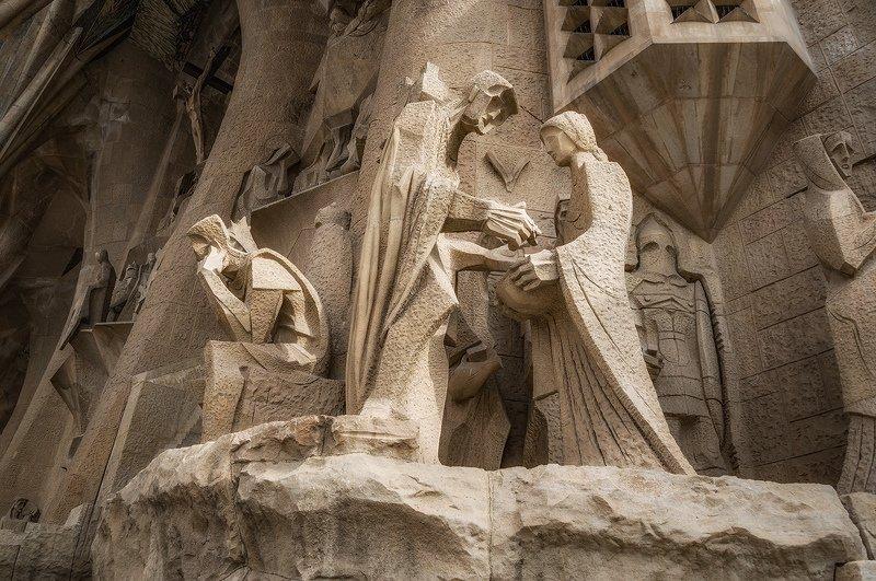 барселона, barcelona Страсти Христовы (фрагмент фасада)photo preview