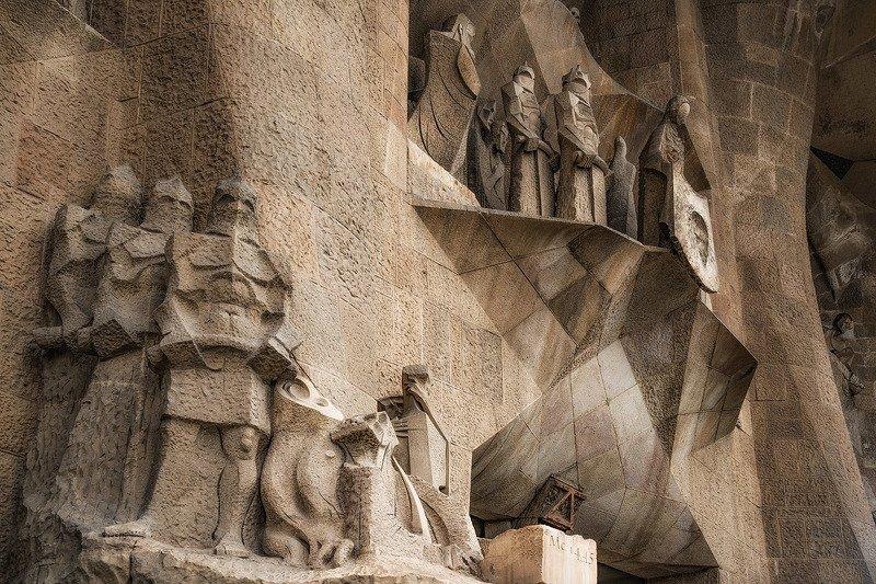 барселона, barcelona Страсти Христовы III (фрагмент фасада)photo preview