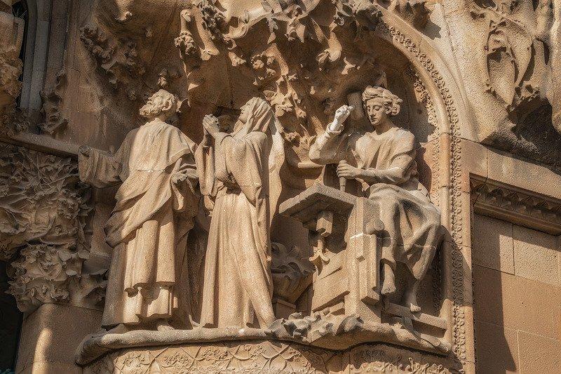 барселона, barcelona Рождество Христово (фрагмент фасада)photo preview