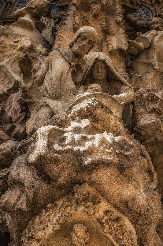 барселона, barcelona Рождество Христово II (фрагмент фасада)photo preview