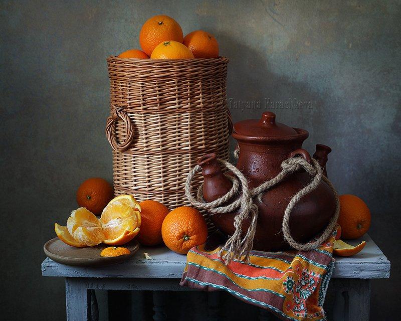 натюрморт, апельсины, рукомойник Апельсиновые вариацииphoto preview