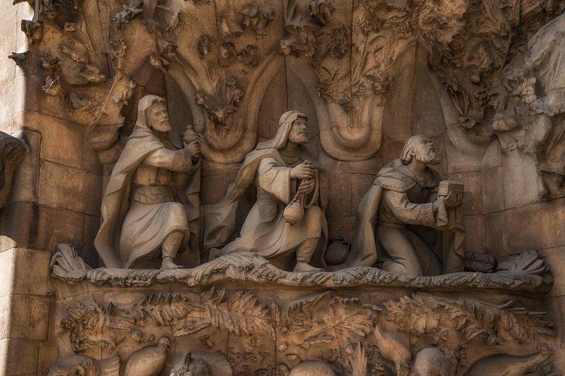 барселона, barcelona Рождество Христово III (фрагмент фасада)photo preview