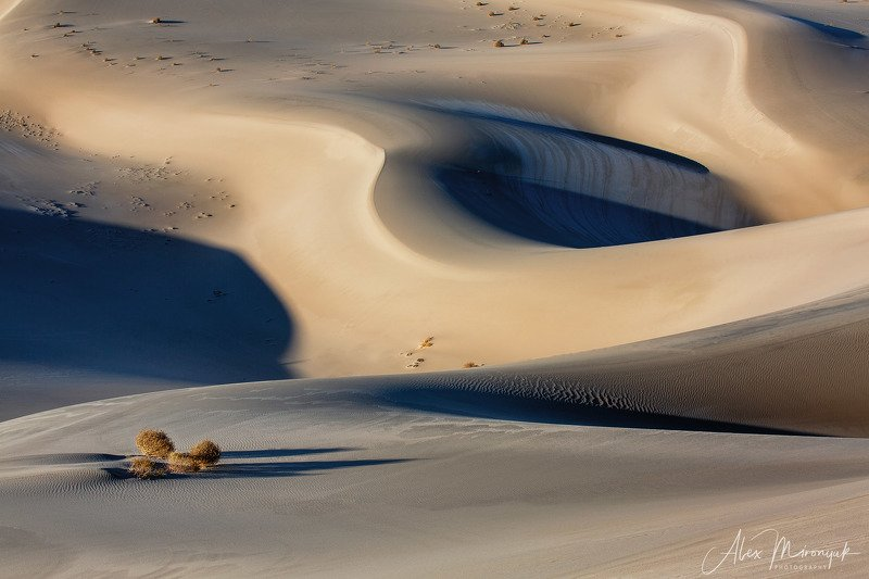 пустыня, дюны, песок, свет, тень, абстракция, паттерн, узор, фото-тур, сша, америка, Дюно-графикаphoto preview