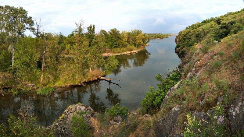 landscape,nature,sky,весна,вода,закат,зелень,камни,краски,небо,отражение,панорама,пейзаж,природа,река,скалы,сюжет,рекаднепр Майские широты 2photo preview