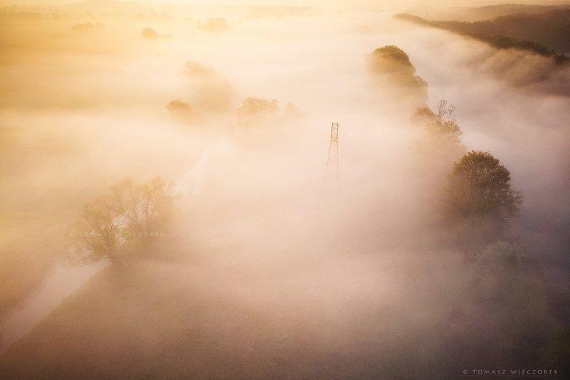 poland, polish, landscape, sunrise, sunset, colours, awesome, amazing, adventure, travel, beautiful, morning, light, mist, fog, mood, drone, river Waterfall of mistsphoto preview