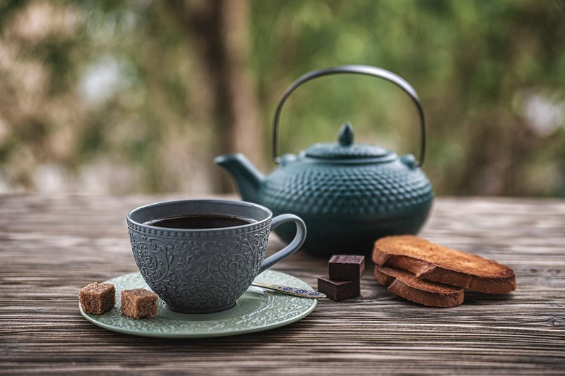 чай, чайник, чашка, сухарик, сахар, Чайphoto preview