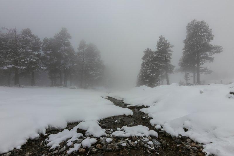 горы, эльбрус,кавказ,туман в белом тумане...photo preview