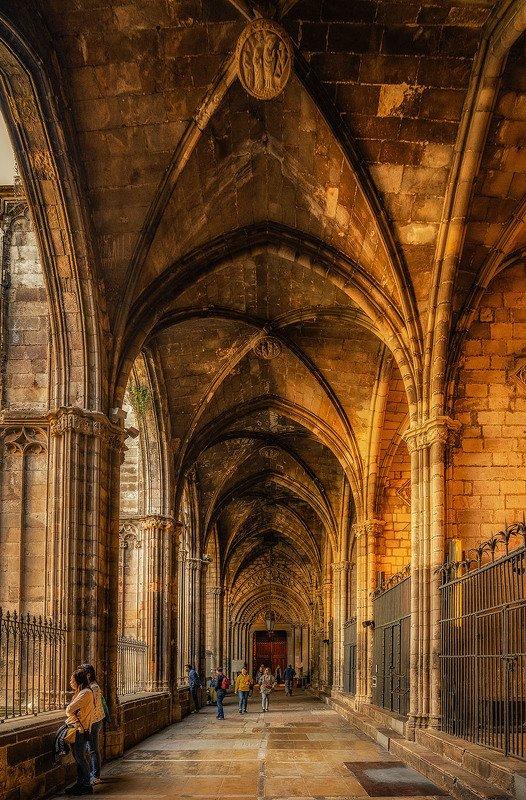 барселона, barcelona La Catedral de la Santa Cruz y Santa Eulaliaphoto preview