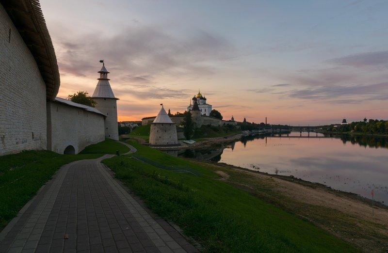 pskov, pleskau, псков, кром, кремль, landscape, pskovregion, krom, kremlin, утро, восход, река, реки Утроphoto preview
