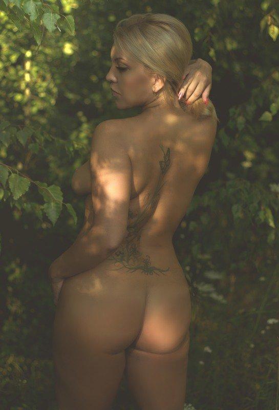 лес, девушка, ню..лето.. \
