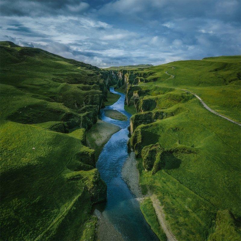 iceland, исландия, фьядрарглуфюр, Зеленый каньон.photo preview