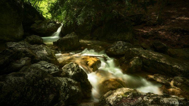 крым, тисовый водопад, весна, вода, длинная выдержка, большой каньон, пейзаж photo preview