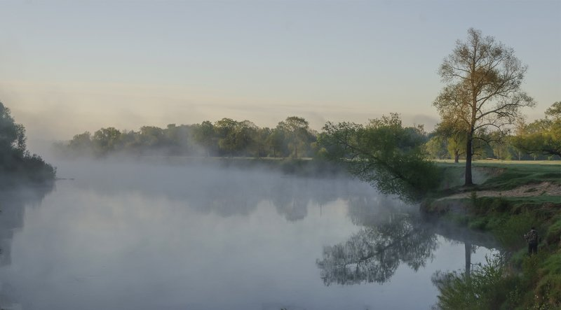 рассвет ,утро ,туман , Туманное утроphoto preview
