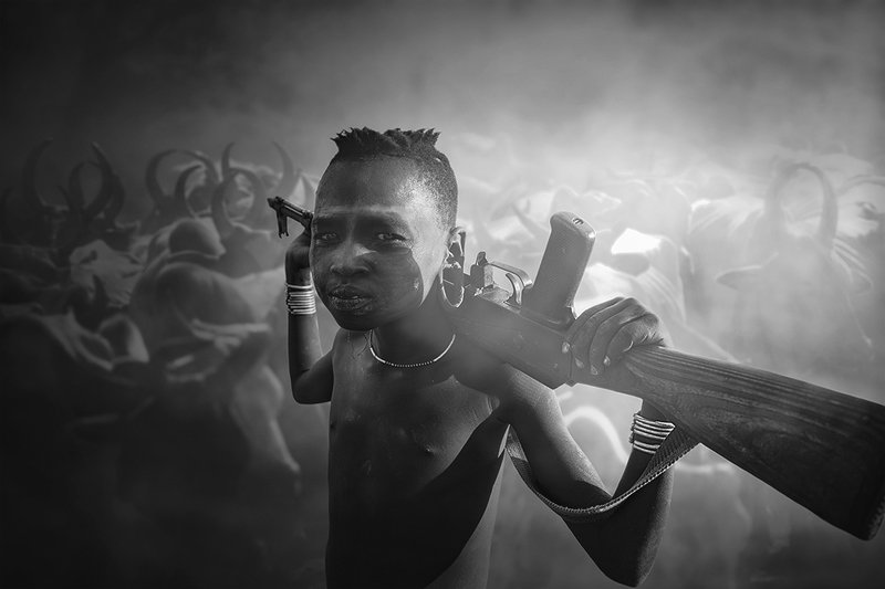 Boy from Mursi tribephoto preview