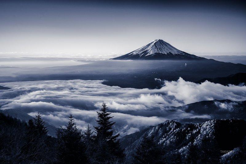 fuji, Japan,mountain,clouds,peak,top,snow,autumn,sky,amazing,wonderful,blue Mount Fuji islandphoto preview