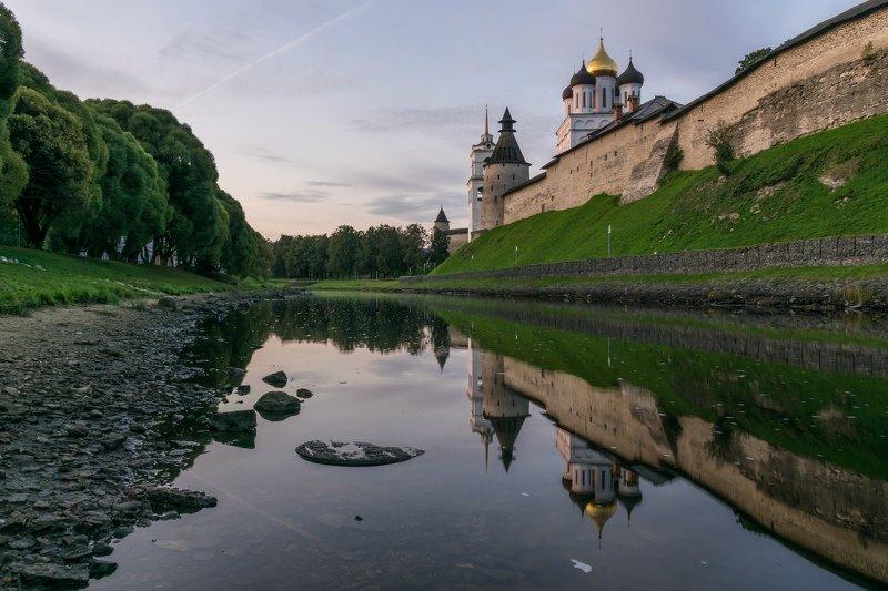 pskov, pleskau, псков, кром, кремль, landscape, pskovregion, krom, kremlin, утро, восход, река, реки Соборphoto preview