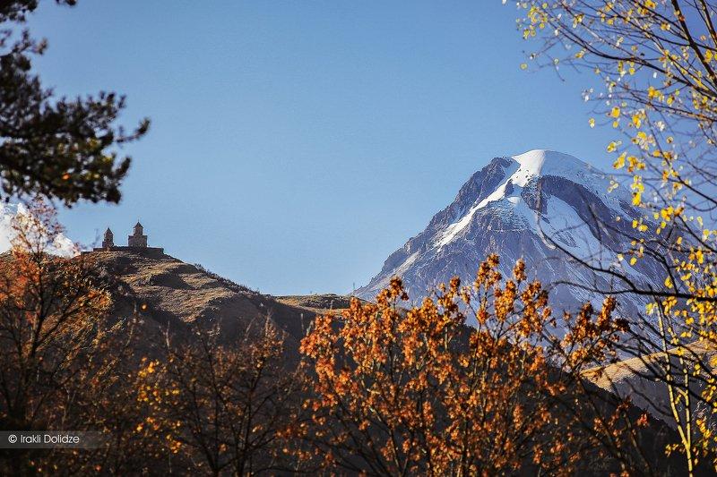 kazbegi, georgia, landscape, outdoor, autumn, mountains Missed Kazbegiphoto preview