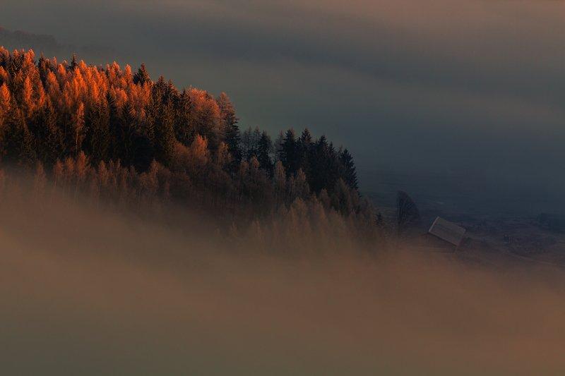 autumn,mountains,canon,sunrise Waiting for the Light фото превью