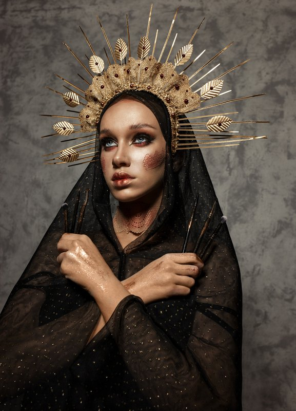 гламур, портрет, женский портрет, макияж Богиня макияжаphoto preview