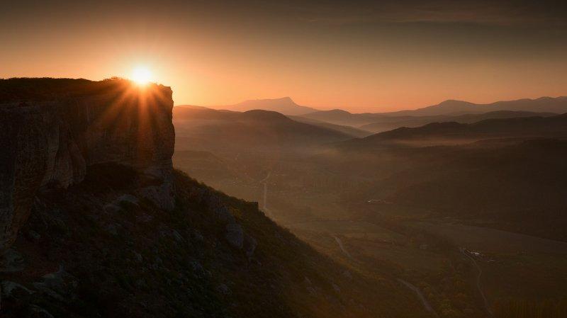 крым, весна, качи-кальон, фототур, рассвет, солнце, скалы, чатыр-даг, landscape, mountain, sun, dawn. Рассвет на Качи-Кальонеphoto preview