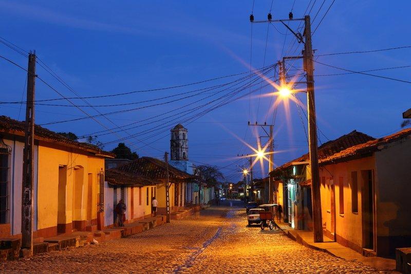 тринидад, куба, закат, ночь, архитектура Тринидадphoto preview