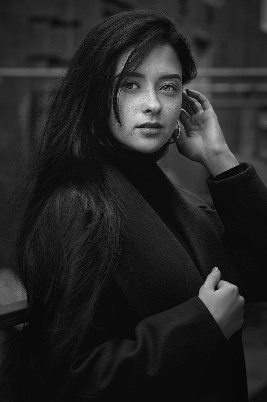 чб, портрет, девушка Лизаphoto preview