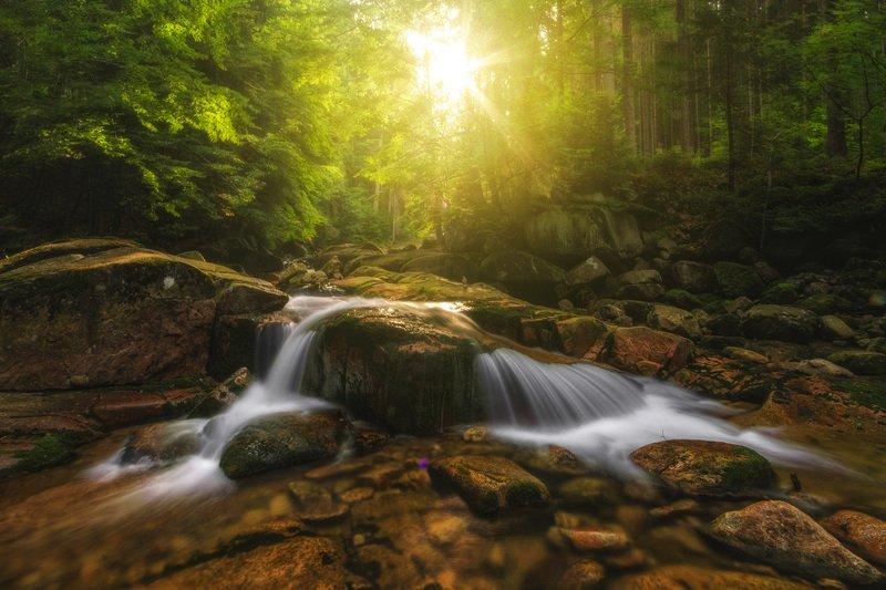 summer,mountains,canon,waterfall Light The Summer фото превью
