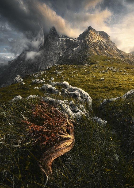 #landscape #mountains #gransasso #italy #sunset \