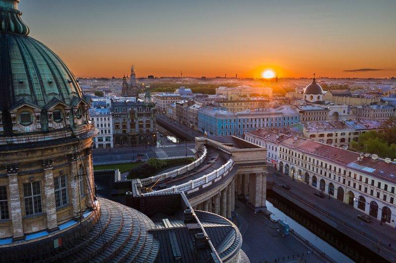 санкт-петербург, рассвет, казанский собор, город, питер. Рассветphoto preview
